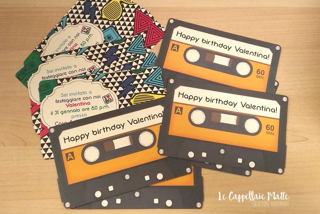 Inviti handmade festa anni '80