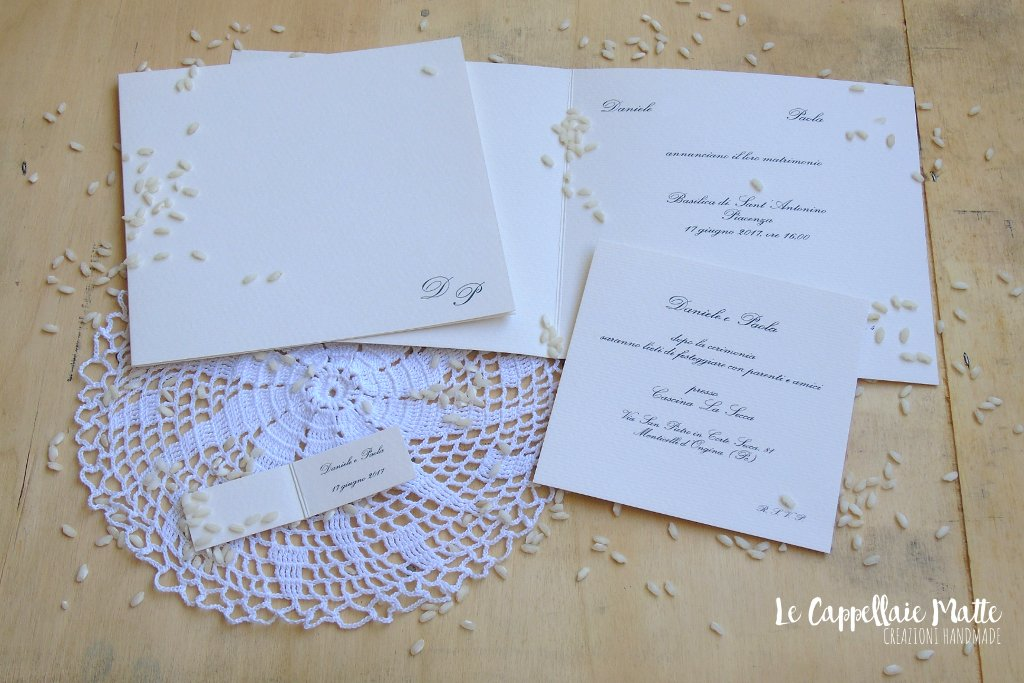Partecipazioni matrimonio handmade