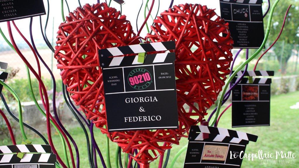 Tableau mariage handmade matrimonio tema telefilm