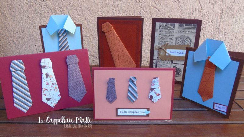 Biglietti auguri festa del papà handmade - Cardmaking tutorial