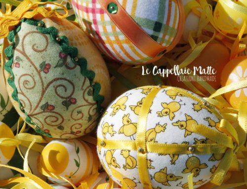 Uova di Pasqua fai da te con la tecnica del patchwork