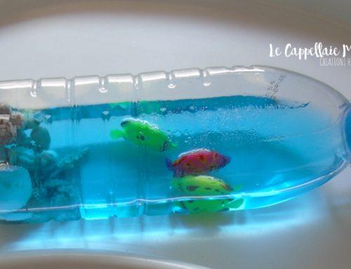 Il mare in bottiglia – Bottiglia sensoriale diy