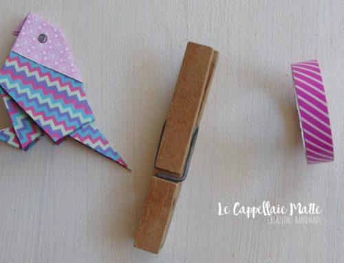 L'incontro di un pappagallo con una vecchia molletta – Origami tutorial