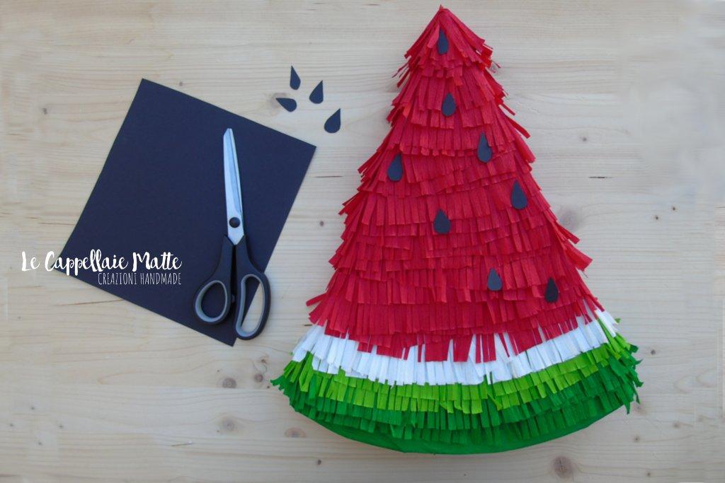 Pignatta anguria fai da te - Watermelon Pinata diy