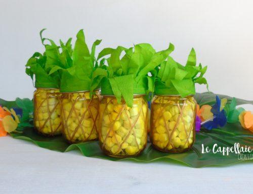 Un ananas a merenda! Riciclo creativo: party favors con i vasetti degli omogeneizzati