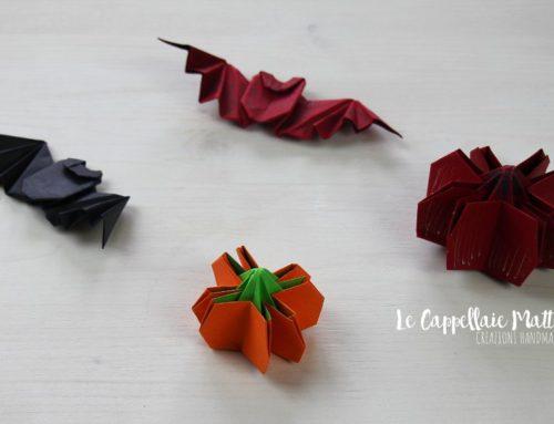 Zucche e pipistrelli banchettano ad Halloween – Tutorial origami
