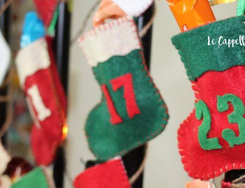 Calendario dell'avvento fai da te con calzine in feltro