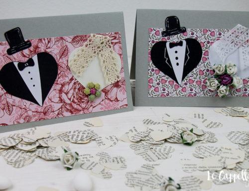 """""""Due cuori e una card"""" – Tutorial Cardmaking biglietto auguri Matrimonio"""