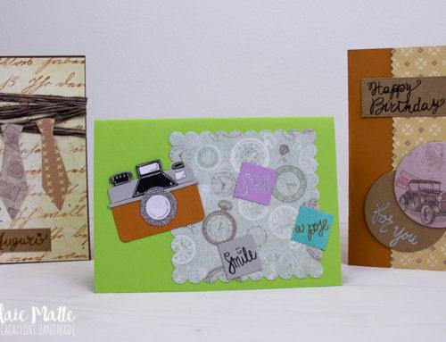 Progetti in libertà! Ispirazioni creative per auguri al maschile – Cardmaking diy