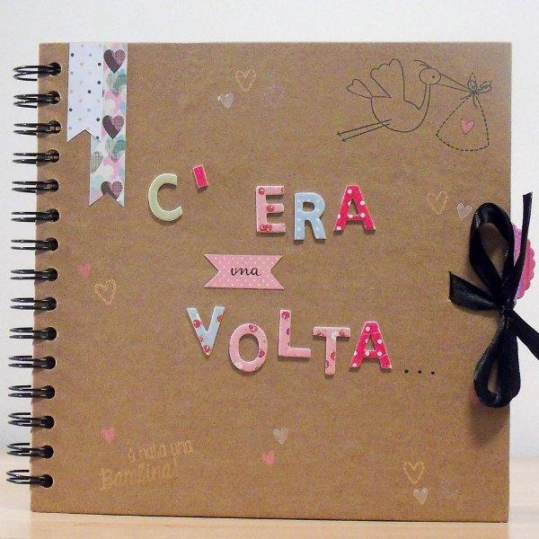 Album nascita handmade scrapbooking - Le Cappellaie Matte