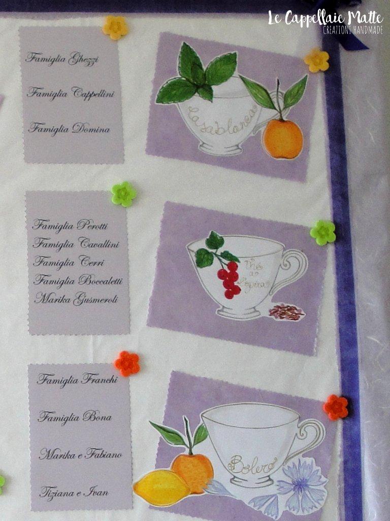 Tableau mariage handmade matrimonio tema tè