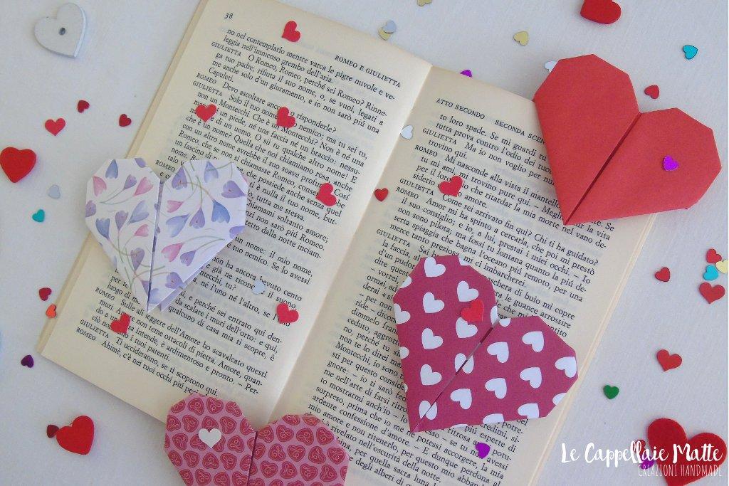 Origami segnalibro cuore handmade