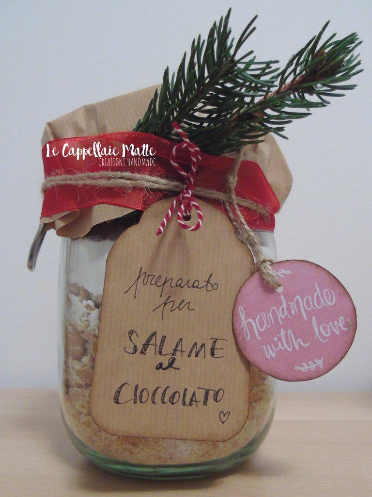 Salame di cioccolato in barattolo - Regali handmade