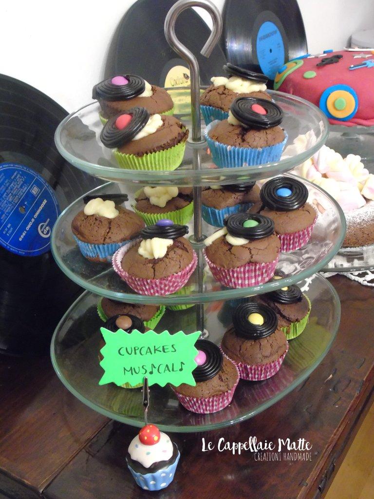 Cupcakes Musicali festa anni '80