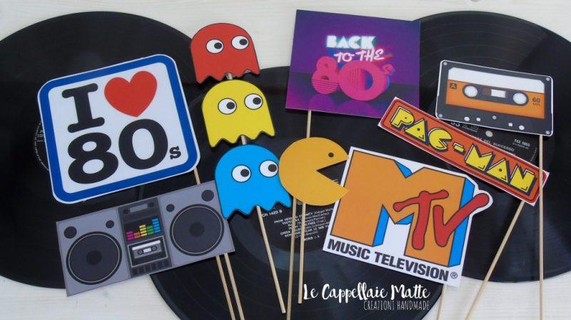 Props handmade festa anni '80