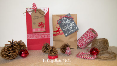 Sacchettini natalizi fatti a mano - diy