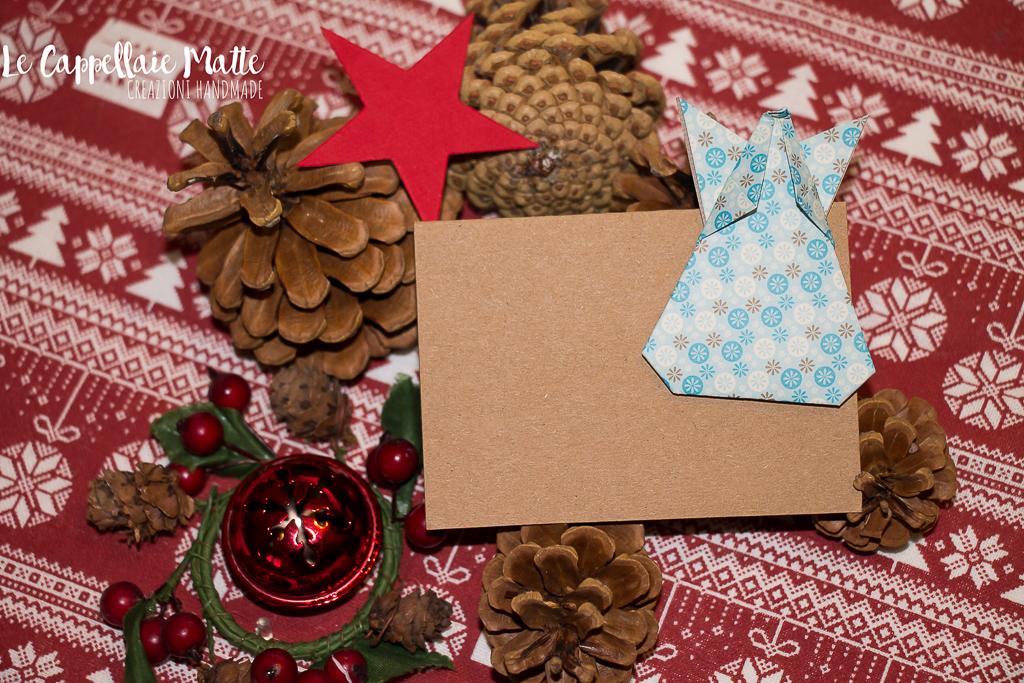 Segnaposto Natale origami faidate diy angelo