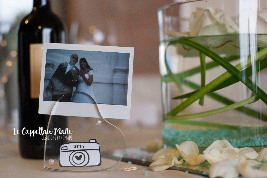 Segnatavolo handmade matrimonio tema polaroid