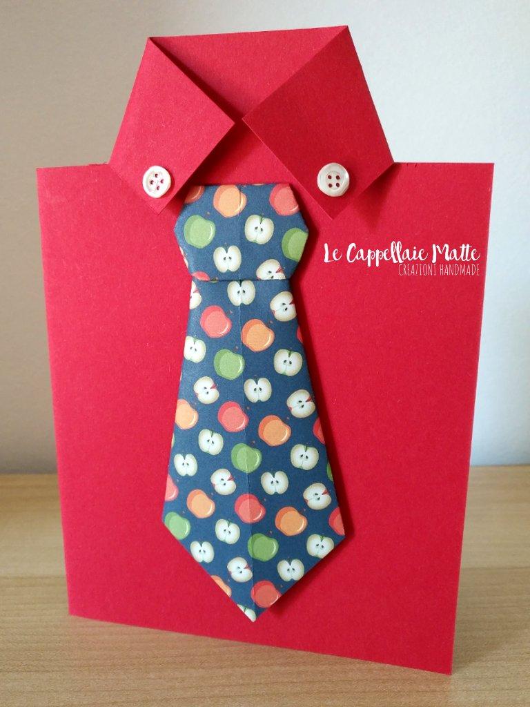 Biglietto auguri festa del papà handmade - Cardmaking tutorial
