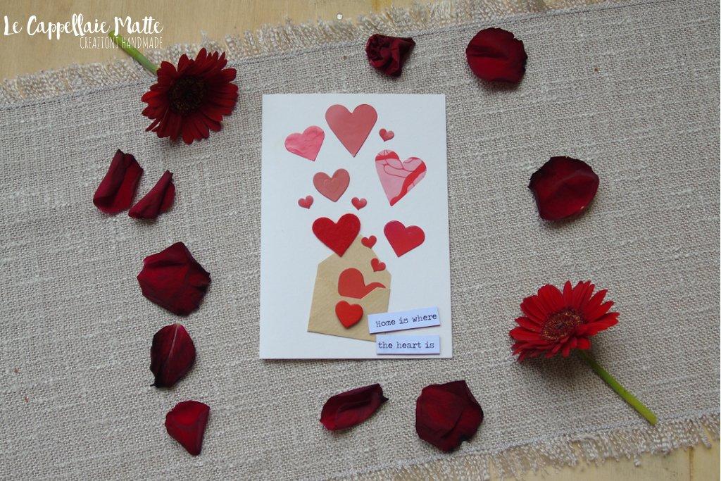 Biglietto auguri San Valentino fai da te - Cardmaking