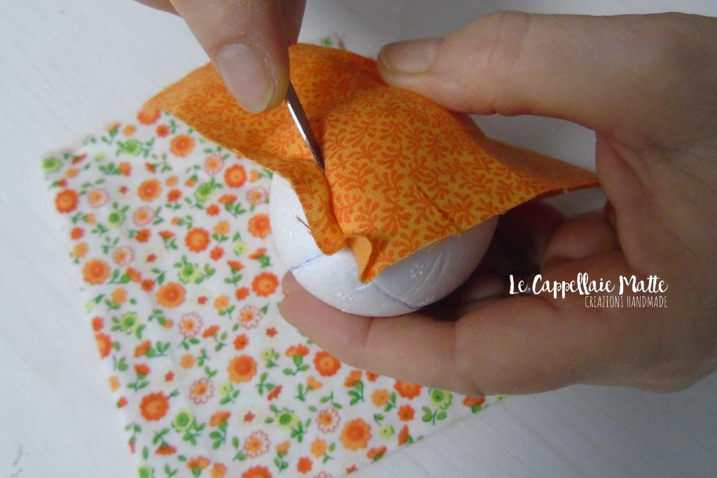 Uova Pasqua polistirolo patchwork fai da te diy