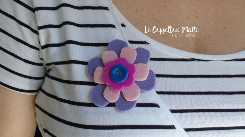 Spilla feltro handmade