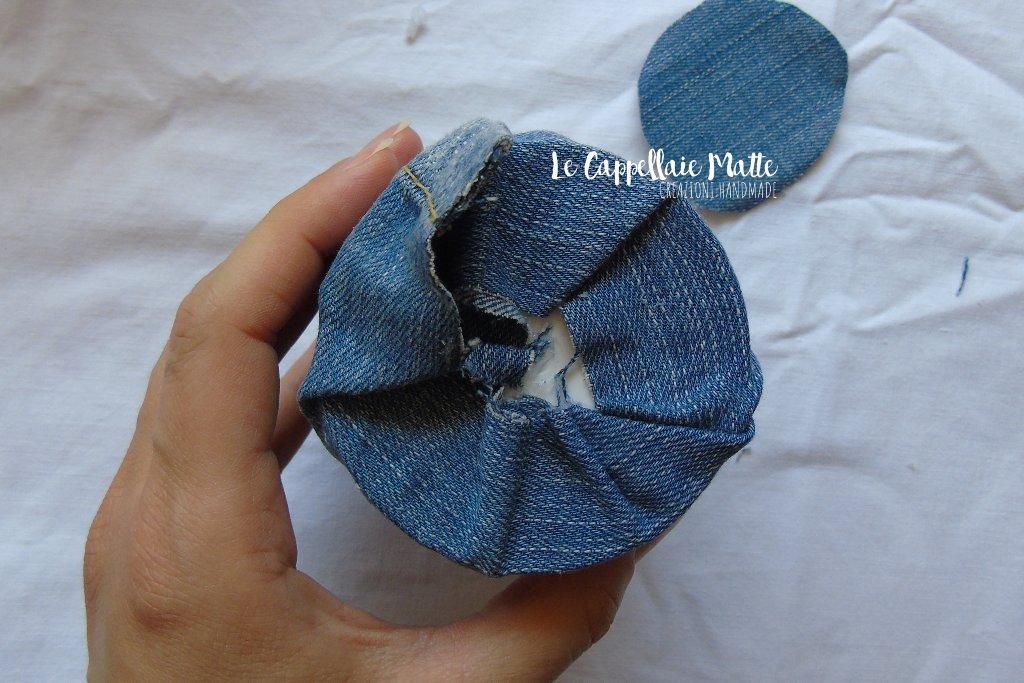 Barattolo jeans riciclo creativo