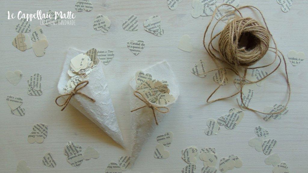 Conetti riso fai da te - Wedding cone diy