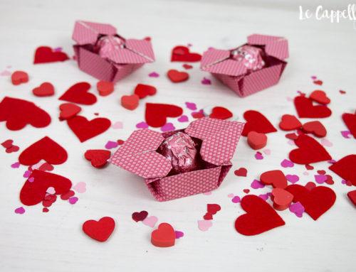 Baci in scatola origami – Allestimento tavola San Valentino – Video tutorial