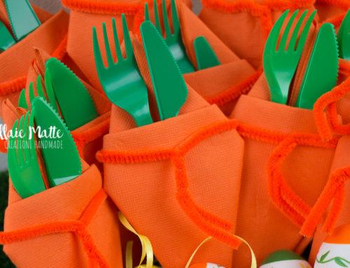 Posate al sapore di carota – Come abbellire la vostra tavola pasquale – Video Tutorial
