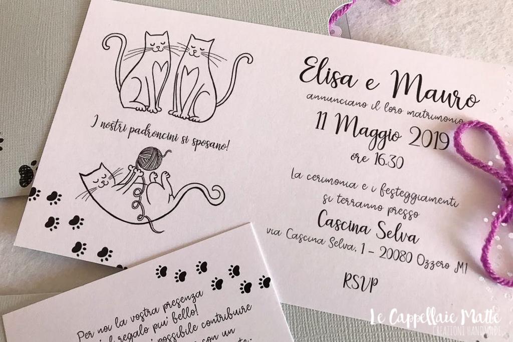 Partecipazioni Matrimonio Gatti.44 Gatti In Fila Per Sei Col Resto Due Benvenuti Al Matrimonio