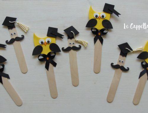 Una laurea in giallo! Segnalibri cadeau per bomboniere realizzate a mano