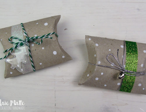 Un pacchetto regalo per Natale all'insegna del riciclo creativo! Christmas Pillow box Tutorial