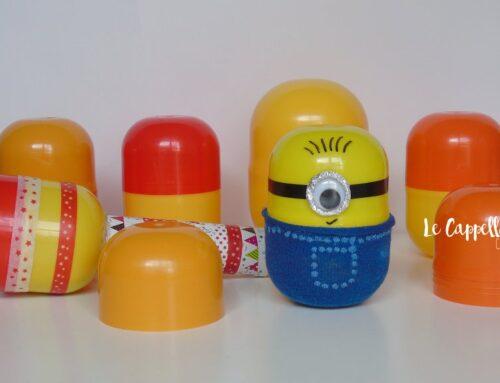 Riciclo creativo con i contenitori delle sorprese delle uova di Pasqua