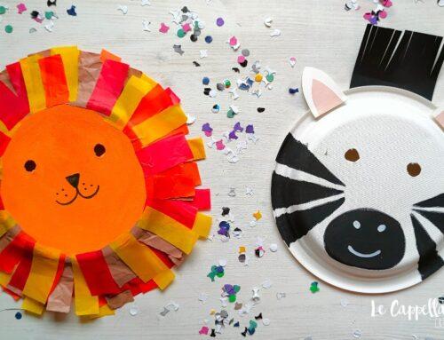 C'erano una volta un leone e una zebra… Maschere di Carnevale con i piatti di carta – Video tutorial