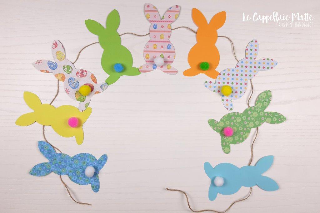 Ghirlanda coniglietti pasquali tutorial