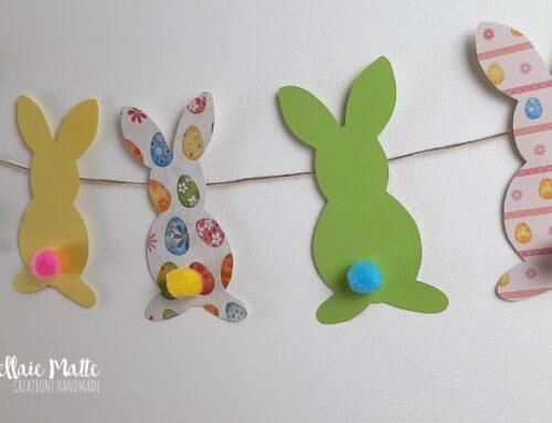 Una ghirlanda di coniglietti pasquali tutorial