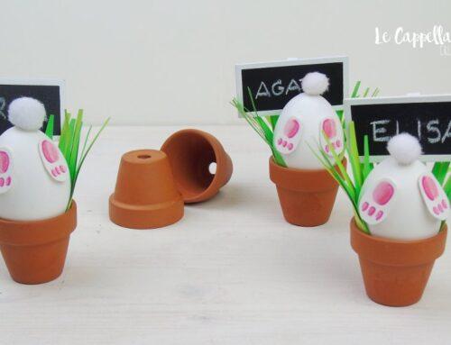 Timidi conigli segnaposto per la tavola di Pasqua – Video tutorial