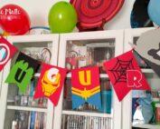 Festa a tema Avengers banner
