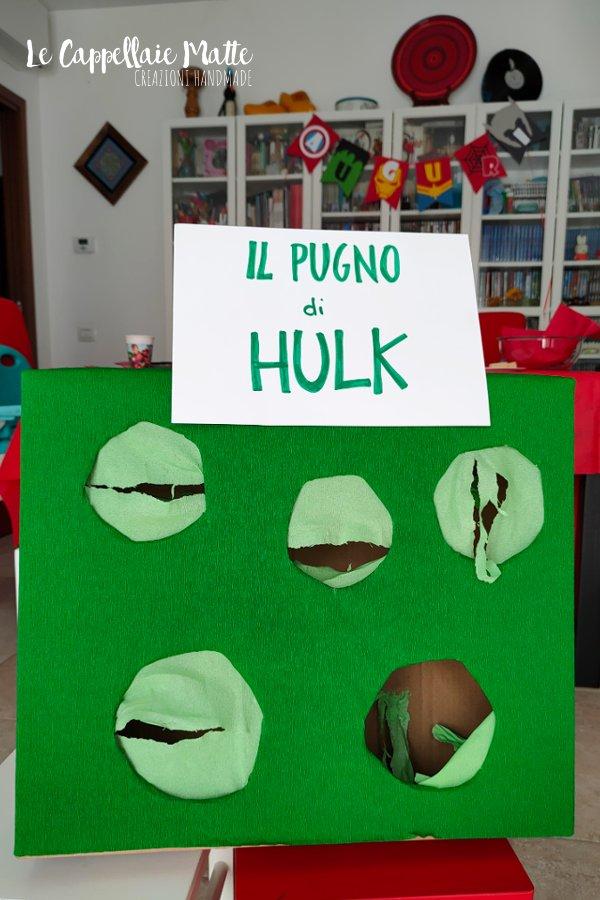 Festa a tema Avengers giochi - Pugno di Hulk