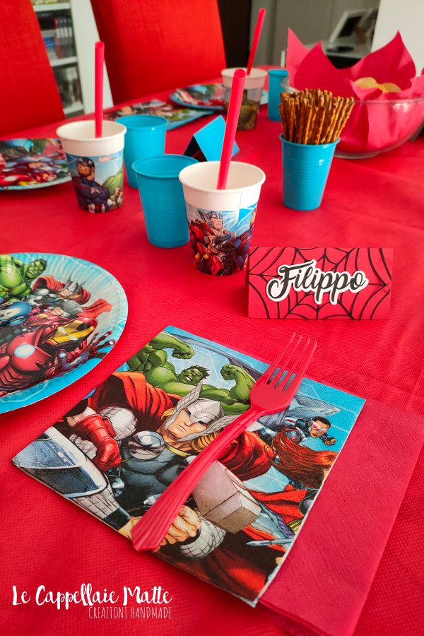 Festa a tema Avengers tavola