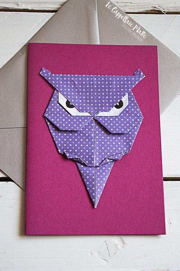 biglietto auguri origami
