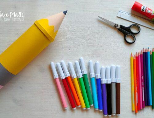 Astuccio matita gigante con il tubo delle Pringles – Riciclo creativo Videotutorial