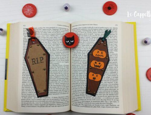 Segnalibri Halloween a forma di bara – Tutorial diy
